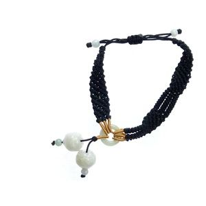 Jewelry - Double Lotus Knotted Jade Bracelet